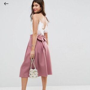 0528317c7 Women Asos Bow Skirt on Poshmark